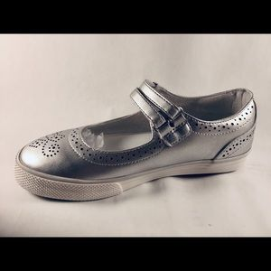Hanna Andersson Girl Adele Silver Mary Jane Size 4